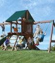 Two Ring Play Set with Monkey Bars