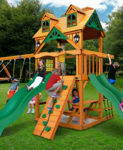 Riviera Dueller Swing Set - Wood Mont Swing Set